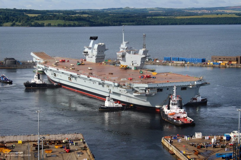 英國海軍最大的戰艦HMS Queen Elizabeth 。 圖片來源:http://ppt.cc/C4IYq(UK Ministry of Defence via Flickr)