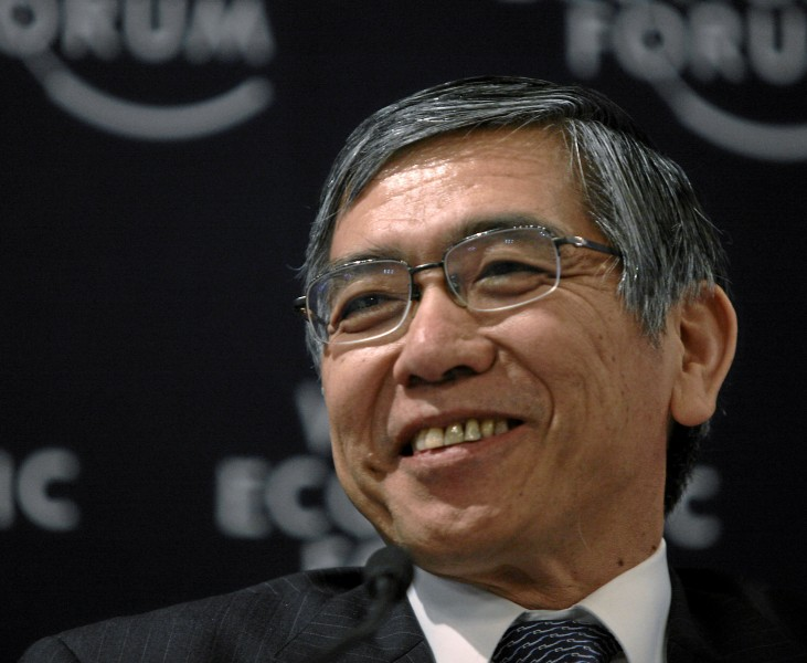 DAVOS/SWITZERLAND, 30JAN10 - Haruhiko Kuroda, President, Asian Development Bank, Manila captured in the session 'Financial Risk Management 2.0?' of the Annual Meeting 2010 of the World Economic Forum in Davos, Switzerland, January 30, 2010. Copyright by World Economic Forum swiss-image.ch/Photo by Sebastian Derungs