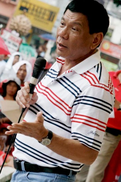 菲律賓新當選總統杜特地,圖諞來源: https://en.wikipedia.org/wiki/Rodrigo_Duterte#/media/File:Rodrigo_Duterte_(2009).jpg